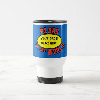 Papá #1 en el día de padre del personalizar del taza de viaje