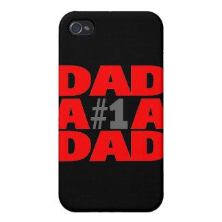 Papá #1 iPhone 4/4S carcasas