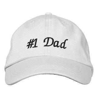 Papá #1 gorras de beisbol bordadas