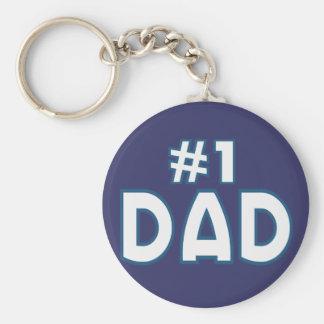 Papá #1 llavero redondo tipo pin