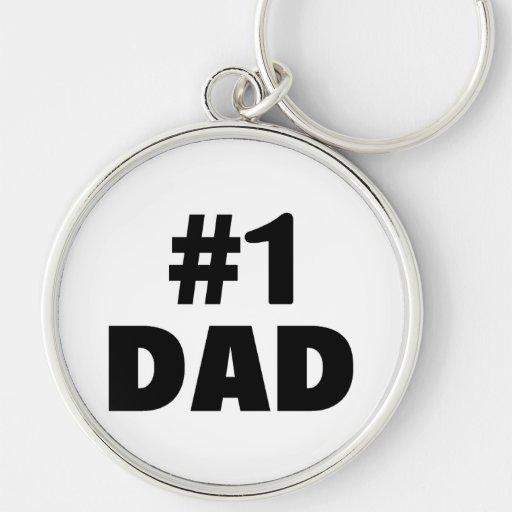 Papá #1 llavero personalizado