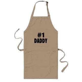 Papá #1 (negro) delantal largo