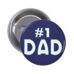 Papá #1 pin redondo 5 cm
