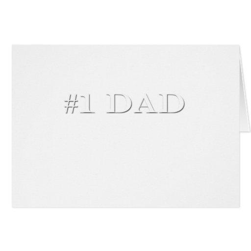 Papá #1 tarjeta de felicitación