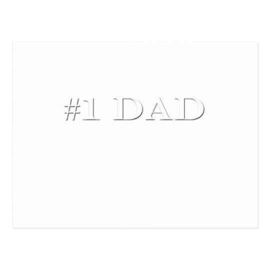 Papá #1 tarjetas postales