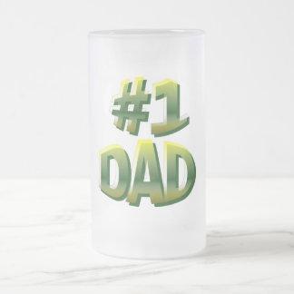Papá #1 taza de cristal