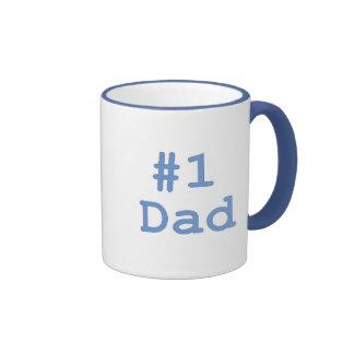 Papá #1 taza de dos colores