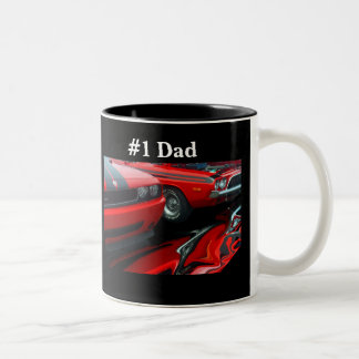 Papá #1 taza de dos tonos