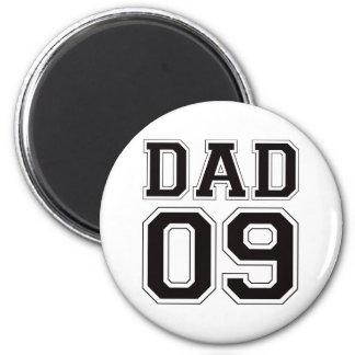 Papá 2009 - Negro Imán Redondo 5 Cm