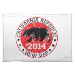 papá 2014 de la república de California nuevo Mantel Individual