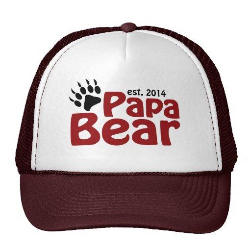 Papá 2014 del oso de la papá nuevo gorros