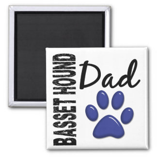 Papá 2 de Basset Hound Imán Cuadrado