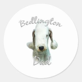 Papá 2 de Bedlington Terrier Etiqueta Redonda