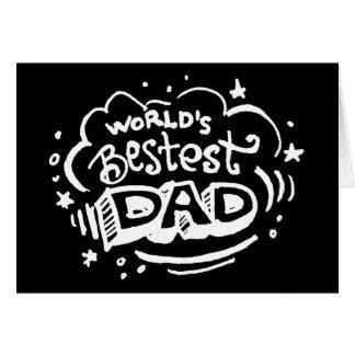 Papá 2 de Bestest del mundo Tarjeta De Felicitación