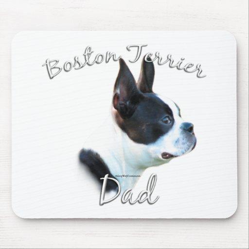 Papá 2 de Boston Terrier Alfombrillas De Raton