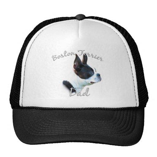 Papá 2 de Boston Terrier Gorros Bordados