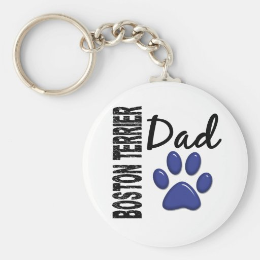 Papá 2 de Boston Terrier Llavero Redondo Tipo Pin