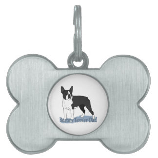 Papá 2 de Boston Terrier Placa De Mascota