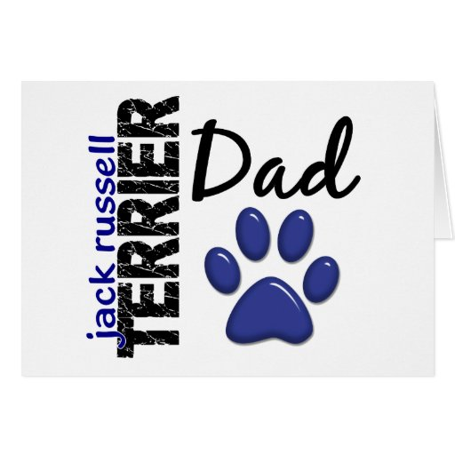 Papá 2 de Jack Russell Terrier Tarjeton