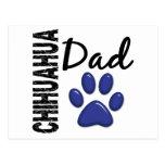 Papá 2 de la chihuahua postal