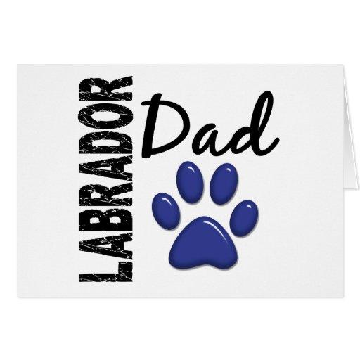 Papá 2 de Labrador Tarjeta De Felicitación