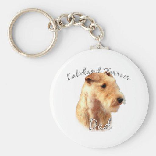 Papá 2 de Lakeland Terrier Llavero Redondo Tipo Pin