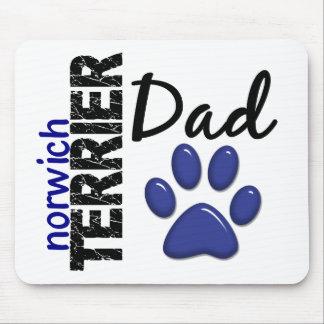 Papá 2 de Norwich Terrier Tapete De Raton
