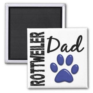 Papá 2 de Rottweiler Imán Cuadrado