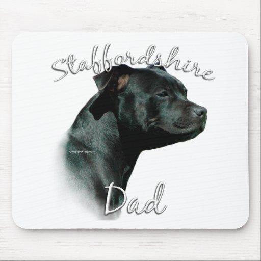 Papá 2 de Staffordshire bull terrier Tapete De Raton