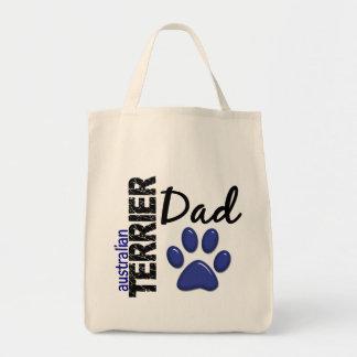 Papá 2 de Terrier australiano Bolsa Tela Para La Compra