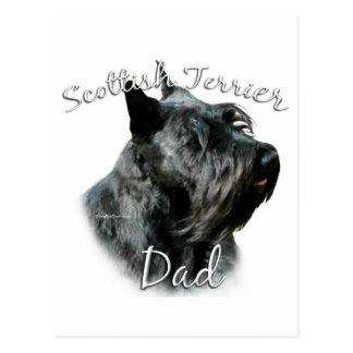 Papá 2 de Terrier del escocés (negro) Postal