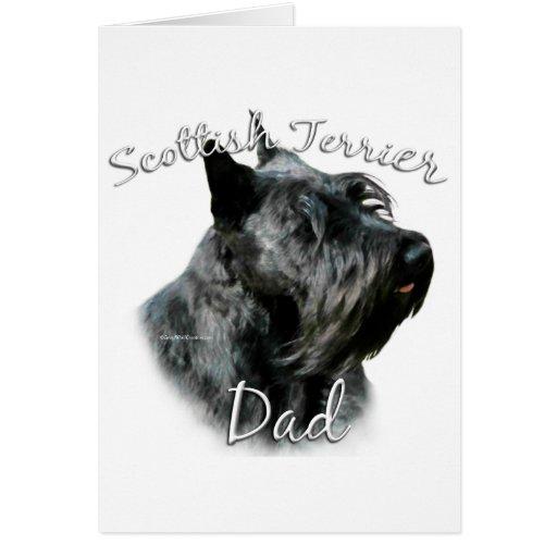 Papá 2 de Terrier del escocés (negro) Tarjeta De Felicitación