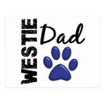 Papá 2 de Westie Postales