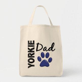 Papá 2 de Yorkie Bolsa Tela Para La Compra