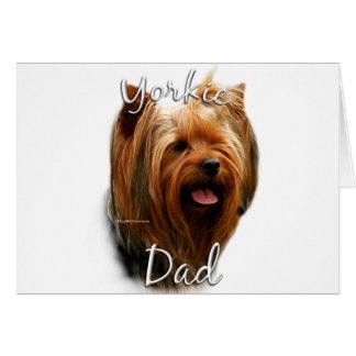 Papá 2 de Yorkshire Terrier Felicitacion