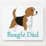 Papá 2 del beagle alfombrilla de ratones