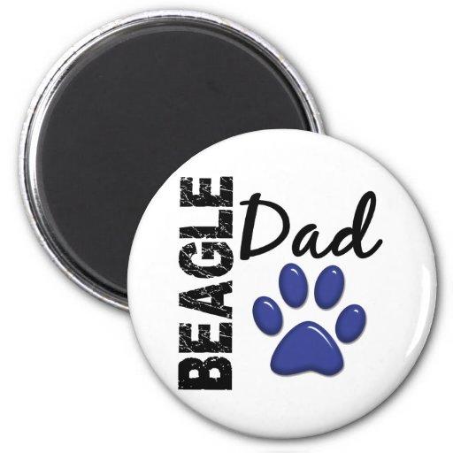Papá 2 del beagle imán redondo 5 cm