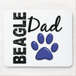 Papá 2 del beagle tapetes de ratón