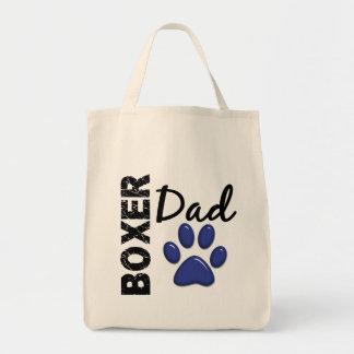 Papá 2 del boxeador bolsa tela para la compra
