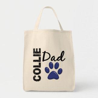 Papá 2 del collie bolsa tela para la compra