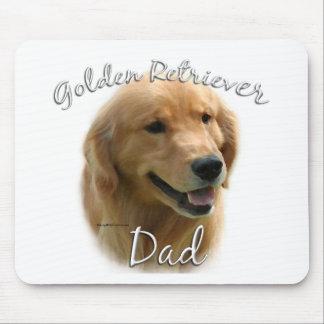 Papá 2 del golden retriever alfombrilla de ratón