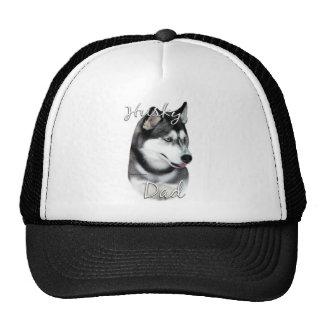 Papá 2 del husky siberiano (negro) gorras de camionero