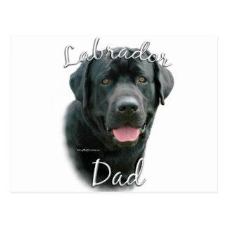 Papá 2 del labrador retriever (negro) postal