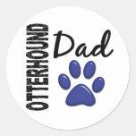 Papá 2 del Otterhound Etiqueta Redonda