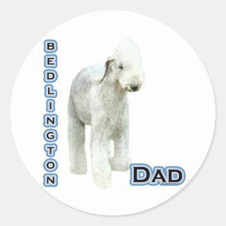 Papá 4 de Bedlington Terrier - pegatina