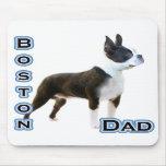 Papá 4 de Boston Terrier Alfombrillas De Ratón