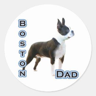Papá 4 de Boston Terrier - pegatina