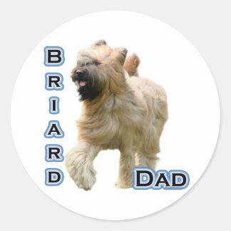 Papá 4 de Briard - pegatina