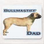 Papá 4 de Bullmastiff Alfombrillas De Ratón