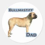 Papá 4 de Bullmastiff - pegatina